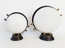 PAIRE DE LAMPES MAISON ARLUS ACIER LAITON VERRE 1950 VINTAGE 50S 50'S ANNEES 50