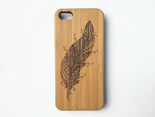 Feather Case for iPhone 7 Plus Bamboo Wood Cover Wings Tattoo Fly Flight Freedom