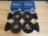 2x12mm + 2x15mm Black Alloy Wheel Spacers Black + Bolts Audi A3 S3 8P (T)