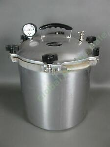 All American Pressure Cooker Canner Model 925 25 Quart Heavy Cast Aluminum Great