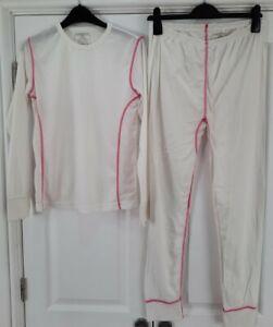 Ladies Crane White Thermal Snow Set Base Layers Top & Leggings Size Large 16-18