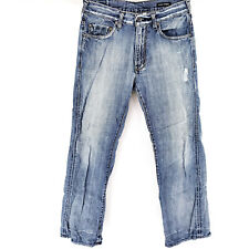 GUESS CLIFF BOOT CUT 30x30 Blue Jeans Premium Denim Modern Distressed Look