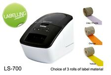 BROTHER QL700 LABEL PRINTER SANDWICH FOOD CHOCOLATE ALLERGENS FREE LABELS