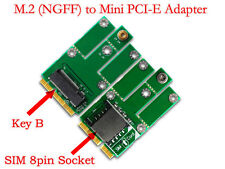 Sintech M.2 (NGFF) 2G/3G WLAN module to mini PCI-e Adapter for CDMA GSM GPS LTE