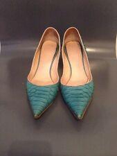 NANDO MUZI, Turquoise Snakeskin Court Shoes, Size 35,5 EU – UK 2,5
