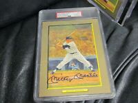 Mickey Mantle AUTOGRAPHED Great moments No. 19 Perez Steel Photo PSA 10