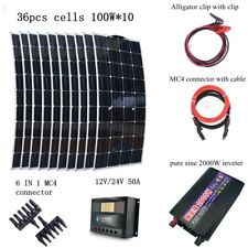 1000W Kit: 10X100W Mono Solar panel+ 2000W Inverter+ 50A Controller + Connector