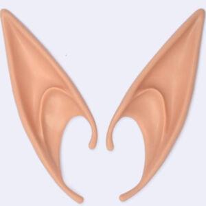 Halloween Latex Fairy Pixie Elf Ears Vulcan Hobbit Vampire Cosplay Costume Props