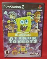 Nicktoons: Attack of Toybots  PS2 Playstation 2 COMPLETE Game 1 Owner Mint Disc