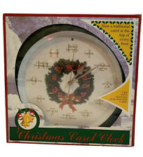 Vintage Mark Feldstein Musical Christmas Carol Clock Plays Tune at Top of Hour