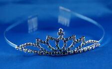 Tiara Mode Strass Braut Krone Prinzessin Kamm Diadem Hochzeit Tiara Schmuck XXL