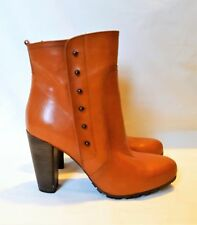 Clarks Ladies Boutique Light Beam Tan Leather Ankle Boots, UK 8 EU 42