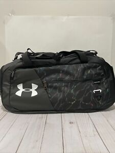 New Under Armour Undeniable Duffel 4.0 Small Duffle Bag, Black Multicolor Gym