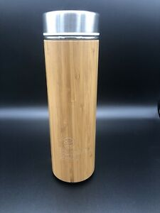Bamboo Brew Thermos Tumbler with Tea Infuser & Strainer Keeps Hot & Cold
