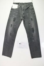 Levis 501 Customized (cod. WB225) tg.46 W32 L// jeans remake destroy grigio