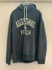 Mens Designer Abercrombie & Fitch Blue Hoodie - Size Small