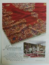 1949 Karastan oriental carpet the Wonder rug of America vintage color ad