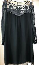Alice By Temperley Black Silk Dress Size UK:10 US:6 RRP£190