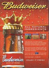 "Budweiser Beer ""All Natural Ingredients"" 2005 Magazine Advert #498"