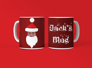 Personalised Christmas photo Santa  Mug