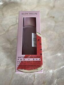 GLOW RECIPE Watermelon Glow PHA+BHA Pore-Tight Toner 40ml BNIB