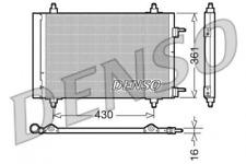 Kondensator, Klimaanlage DENSO DCN07019 für CITROËN PEUGEOT
