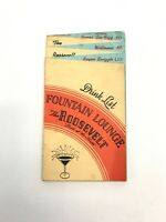 Vintage Liquor List Menu The Roosevelt Hotel New Orleans 1948 Pride of South