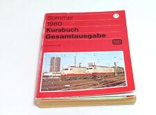 Original Kursbuch  DB Deutsche Bundesbahn Sommer 1980 Gesamtausgabe mit Beilagen