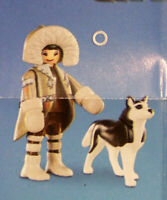 PLAYMOBIL 70139 The Movie Serie 2, Eskimo Inuit mit Husky + Sticker # 2 NEU