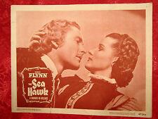 THE SEA HAWK (1947) ERROL FLYNN & BRENDA MARSHALL ORIGINAL PORTRAIT LOBBY CARD