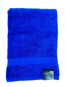 RALPH LAUREN 2 PC WESCOTT ROYAL ADMIRE BLUE COTTON HAND TOWEL& WASH CLOTH