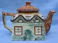 Vintage Keele Pottery Cottage ware Hand Painted Teapot & Lid MINT