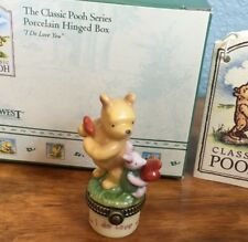 Midwest Cannon Falls Hinged Box Classic Pooh I Do Love You Phb Winnie & Piglet