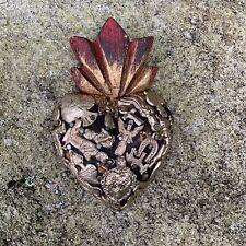 HEARTS - Mexican Milagro Heart - Hand Crafted Wood Milagro Folk Art Heart - #2