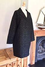 Long Tall Sally De Luxe Black Jacquard Coat , Size 18