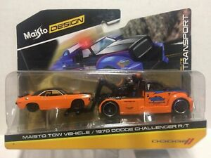New Maisto All Stars Elite Transport Tow Truck & 1970 Dodge Challenger R/T