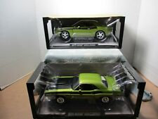 1/18 HIGHWAY 61 2-PACK LIME LIGHT GREEN METALLIC CONCEPT & 1971 DODGE CHALLENGER