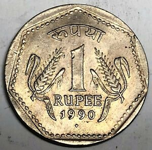 # C651    INDIA   COIN,     ONE  RUPEE   1990