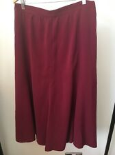 Rust Red Polyester Part Elastic Waist Size 20 Skirt <T11037