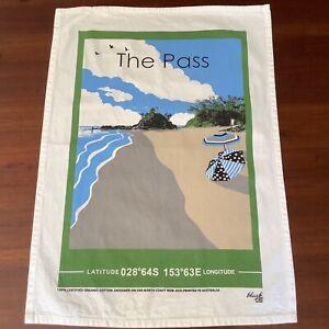 Black Ant brand Tea towel The Pass Byron Bay organic cotton