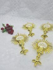 24 First Communion Favor Gold Holy Sacrament  Primera Comunion Bautizo Recuerdos