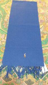 SCIARPA UOMO RALPH LAUREN, NUOVA CON ETICHETTE, COLORE ROYAL BLUE, 100% LANA