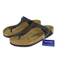 EU40 / L9 / M7 Birkenstock Gizeh Sandals, Black, Regular Fit, Birko-Flor