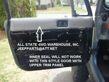 JEEP DOOR WEATHER STRIP SEALS 8 PC BOTH DOORS 1982-95 CJ7 YJ, MOVING VENT STYLE