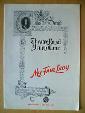 THEATRE ROYAL PROGRAMME 1958- MAY FAIR LADY by Alan Jay Lerner