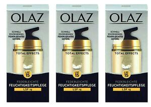 3x Olaz Total Effects 7in one LSF 15, Anti-Ageing Feuchtigkeitspflege,15 ml NEU