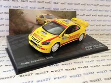 VOITURE RALLYE PEUGEOT 307 WRC  RALLYE ARGENTINE 2006 GALLI/BERNACCHINI 1/43 EME