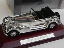 1/43 Atlas Mercedes - Benz SS chrome mit Holzsockel 7687122