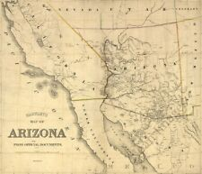 Map of AZ c1865 repro 24x20