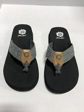 Yellow Box Paige Women's Thong Black/Silver Sandals Size 8M